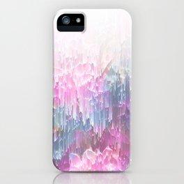 Magical Nature - Glitch Pink & Blue iPhone Case