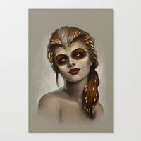 xmen Canvas Prints featuring Owl by Fernanda Suarez