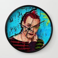 danny ivan Wall Clocks featuring Danny Hennesy by brett66