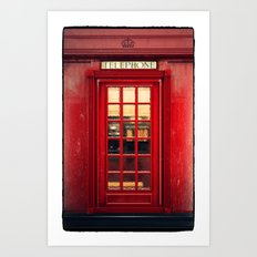 Magical Telephone Booth Art Print
