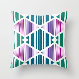 shades of green and purple Throw Pillow