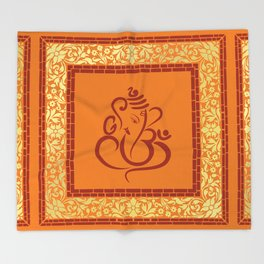 Shree Ganesh Pattern Throw Blanket