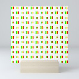 Flag of mali 5 - handmade Mini Art Print