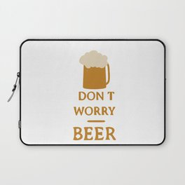 Don't worry beer happy Laptop Sleeve