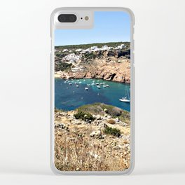 Mediterranean Bay on Menorca Clear iPhone Case