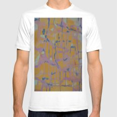 Pastel Map Mens Fitted Tee MEDIUM White