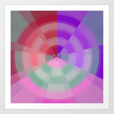 Crossed Color Rings Art Print