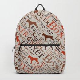 Boxer dog Word Art Backpack