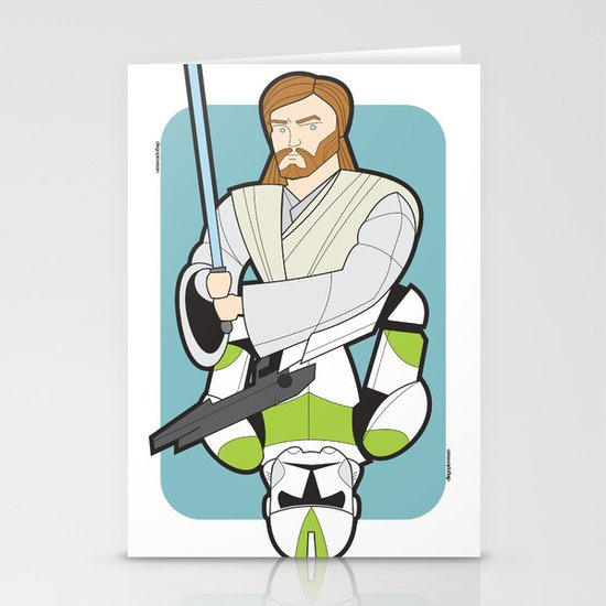 Obi-wan and Clone Trooper Stationery Cards