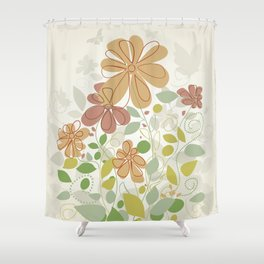 Flowers in the spring Shower Curtain