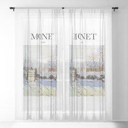 Monet - La Pie Sheer Curtain