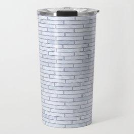 White Brick Wall Travel Mug