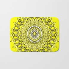 Yellow Sunshine Bohemian Mandala Bath Mat