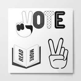 Vote & Read More! Metal Print