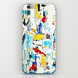 Yellow and Red Öl auf Leinwand iPhone Skin