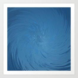 Wavelength (blue) Art Print