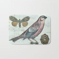 Vintage boho and bird Bath Mat