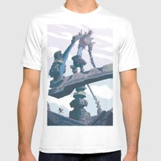 Shadow of the Colossus  MEDIUM White Mens Fitted Tee