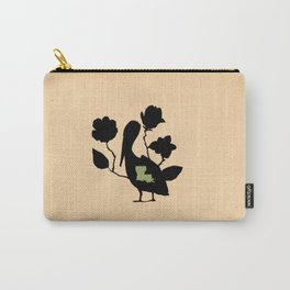 Louisiana - State Papercut Print Carry-All Pouch