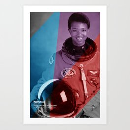 Women of NASA: Mae Jemison Art Print