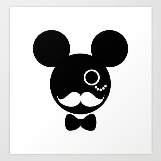Eça de Queirós Mouse_P&B Art Print
