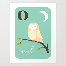 O is for Owl Art Print