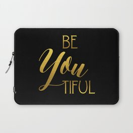 BeYoutiful Gold Foil Laptop Sleeve