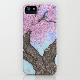 Cherry Blossom Tree Ink and Watercolor  iPhone Case