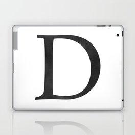 Letter D Initial Monogram Black and White Laptop & iPad Skin