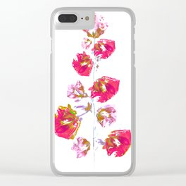 Mallow(2). Clear iPhone Case