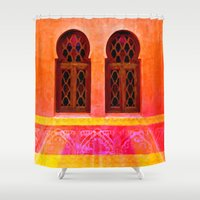 morocco Shower Curtains featuring Morocco  by Xchange Art Studio