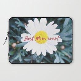 "SMILE ""Best Mom ever!"" Edition - White Daisy Flower #1 Laptop Sleeve"