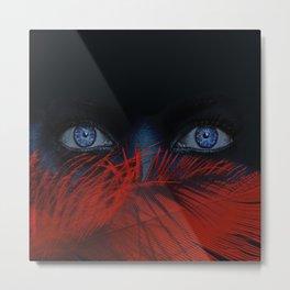 blue eyes behind Metal Print