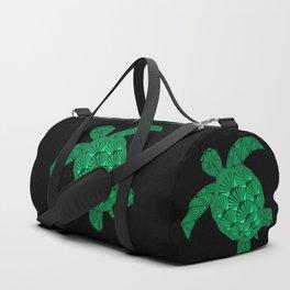 Art Deco Turtle on Black Duffle Bag