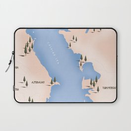 Caspian Sea Map Laptop Sleeve