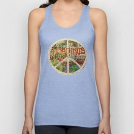Peace Sign - Love - Graffiti Unisex Tanktop
