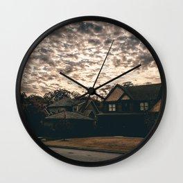 Empty Houses Wall Clock