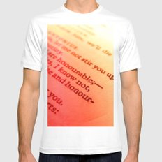 Words number 7 White Mens Fitted Tee MEDIUM
