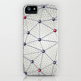 Cryptocurrency network iPhone Case