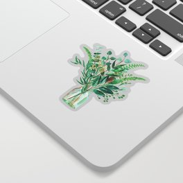 greenery in the jar Sticker