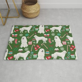 Great Pyrenees christmas festive dog gifts for the dog lover pet friendly pet portraits Rug