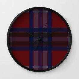 Bluri Squares Wall Clock