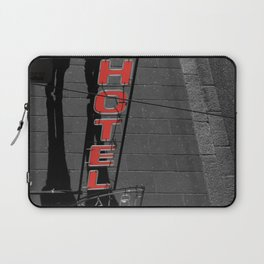 Hotel in Genova Black and White Photography Italy Laptop Sleeve