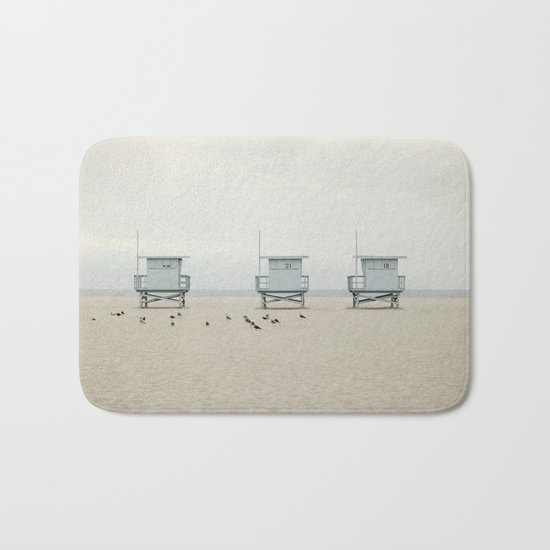 Lifeguard Towers with Birds Bath Mat