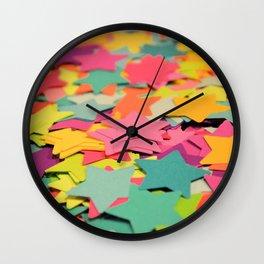 Star Confetti Wall Clock