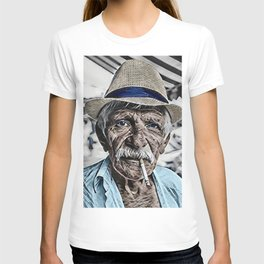 The Old Man and the Sea Portrait T-shirt