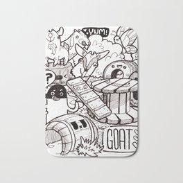 Kawaii Doodle - Goat Love Bath Mat