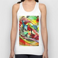 karma Tank Tops featuring karma by sylvie demers
