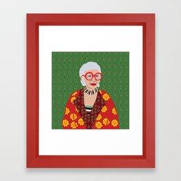 Iris Apfel Framed Art Print