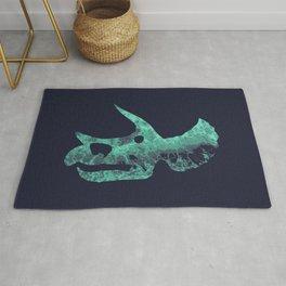 Triceratops Skull Rug